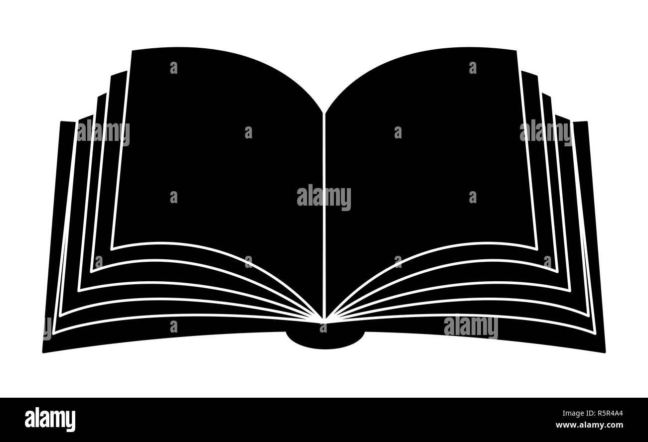 hight resolution of open book vector clipart silhouette symbol icon design illustration isolated on white background