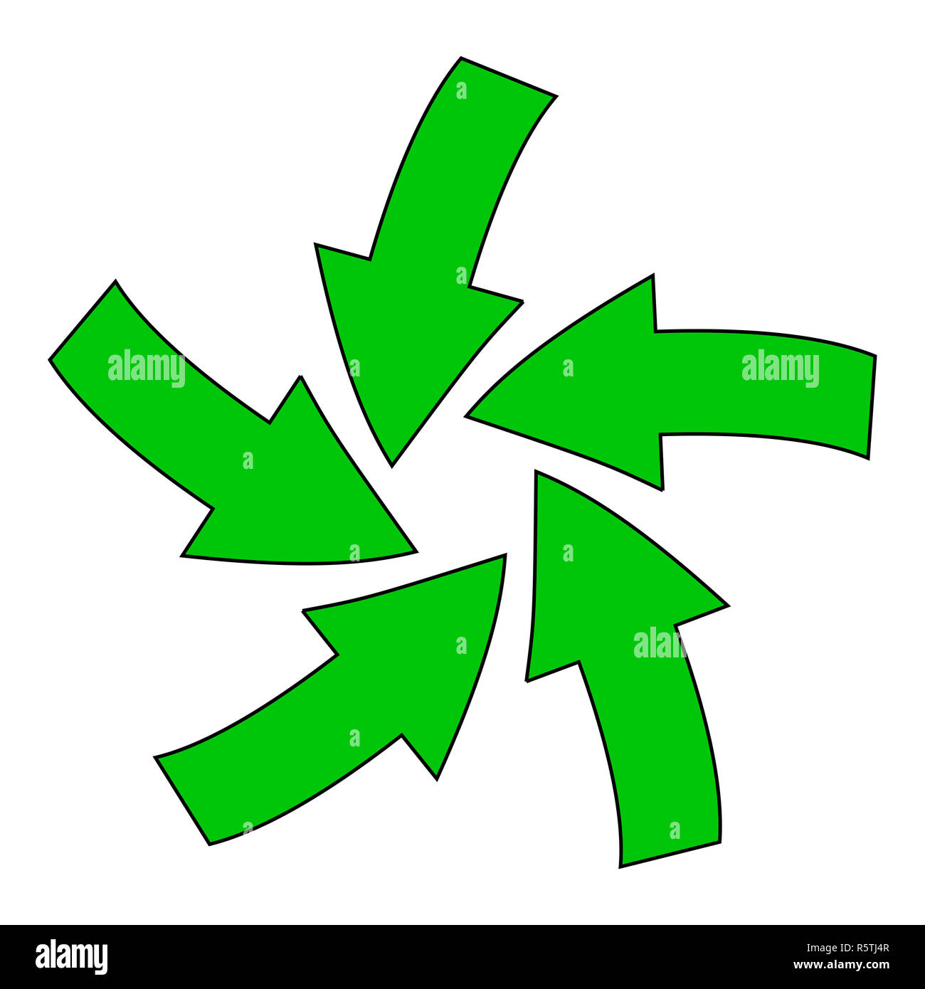 recycle green arrow symbol