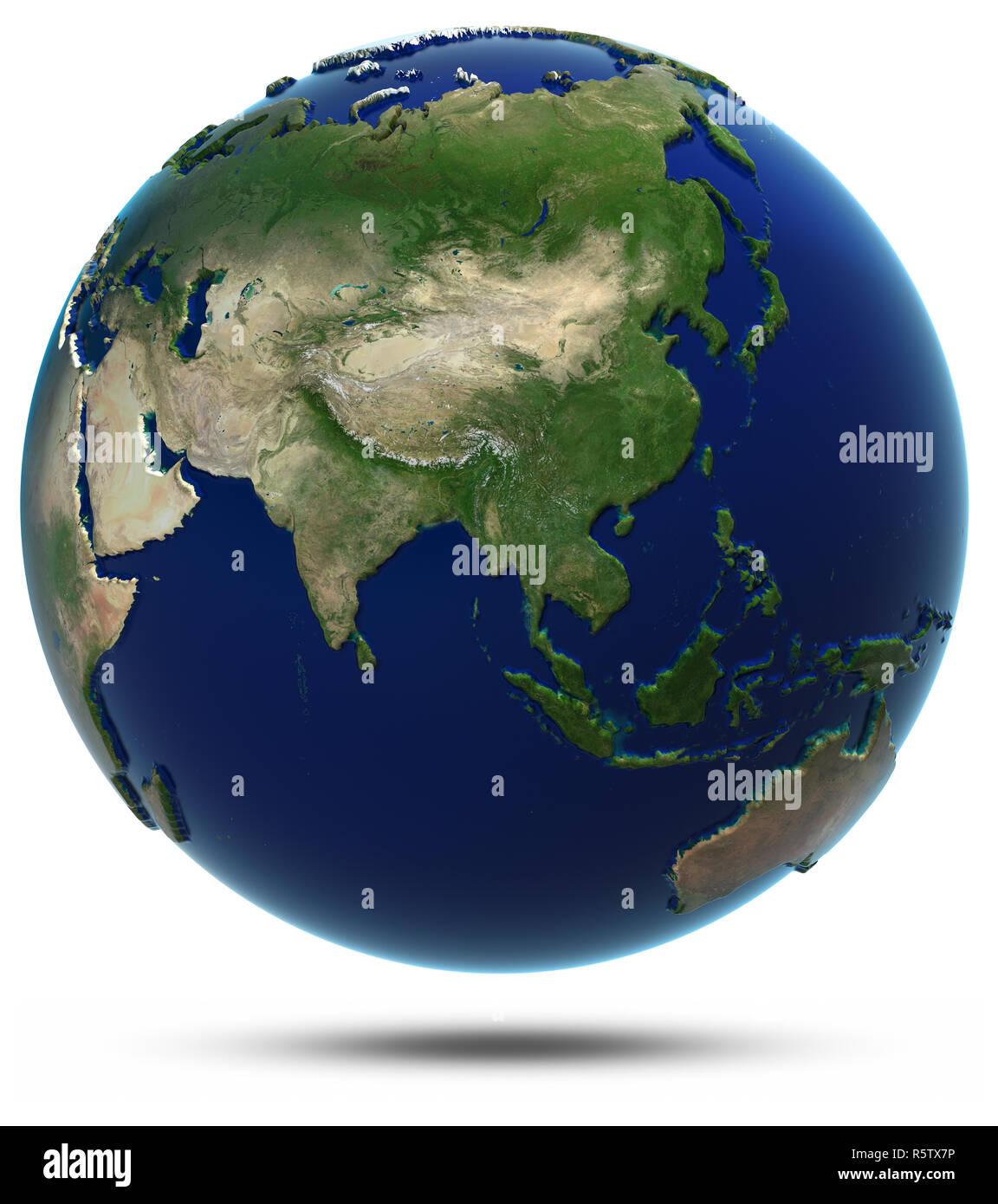 Globe Map 3d : globe, World, Rendering, Stock, Photo, Alamy