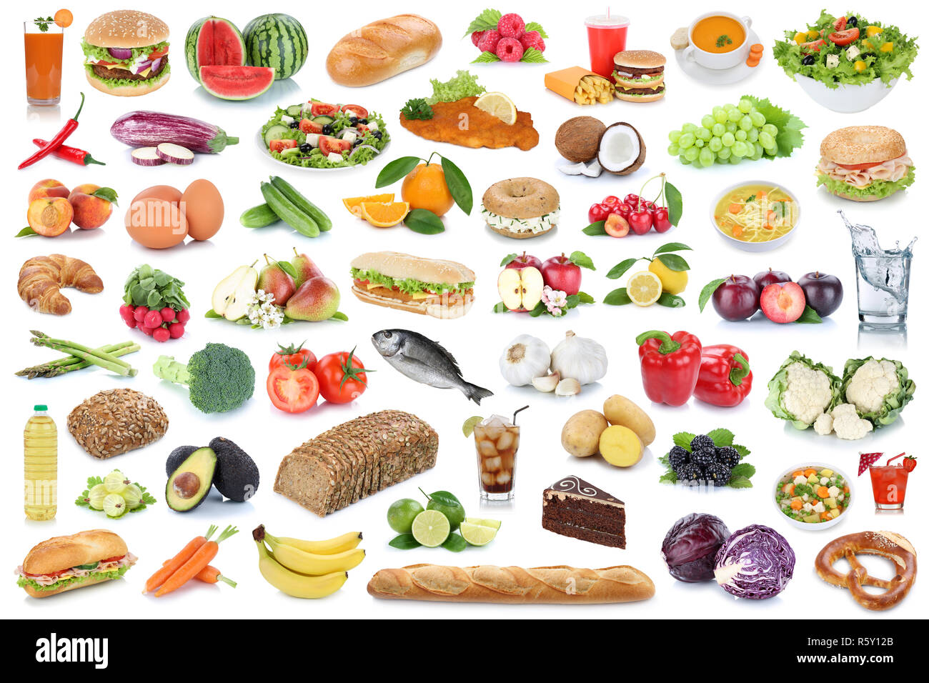 Food Collage Healthy Food Fruits And Vegetables Fruits