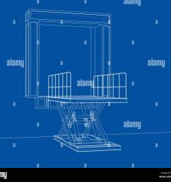 dock leveler concept stock image [ 1300 x 1153 Pixel ]