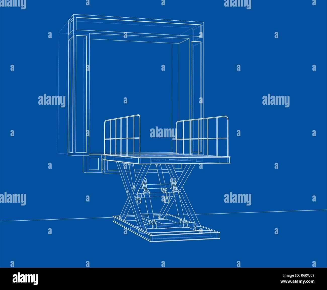hight resolution of dock leveler concept stock image