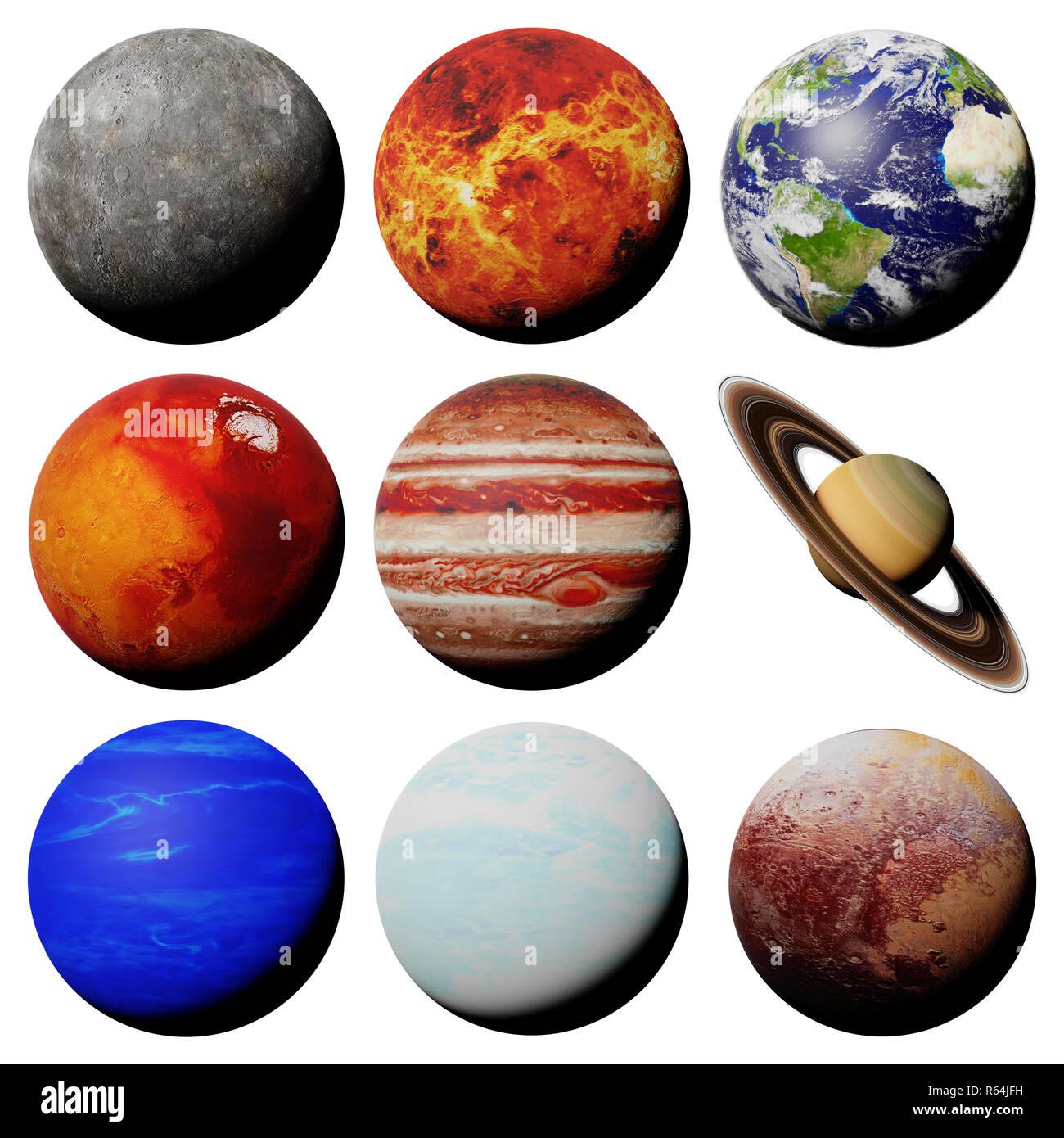 Solar System Planets White Background Stock Photos Amp Solar