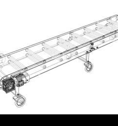 3d outline conveyor belt 3d illustration wire frame style [ 1300 x 964 Pixel ]