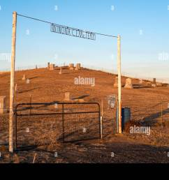 winona cemetery on the palouse prairie in eastern washington stock image [ 1300 x 957 Pixel ]
