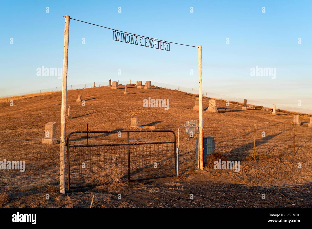 hight resolution of winona cemetery on the palouse prairie in eastern washington stock image