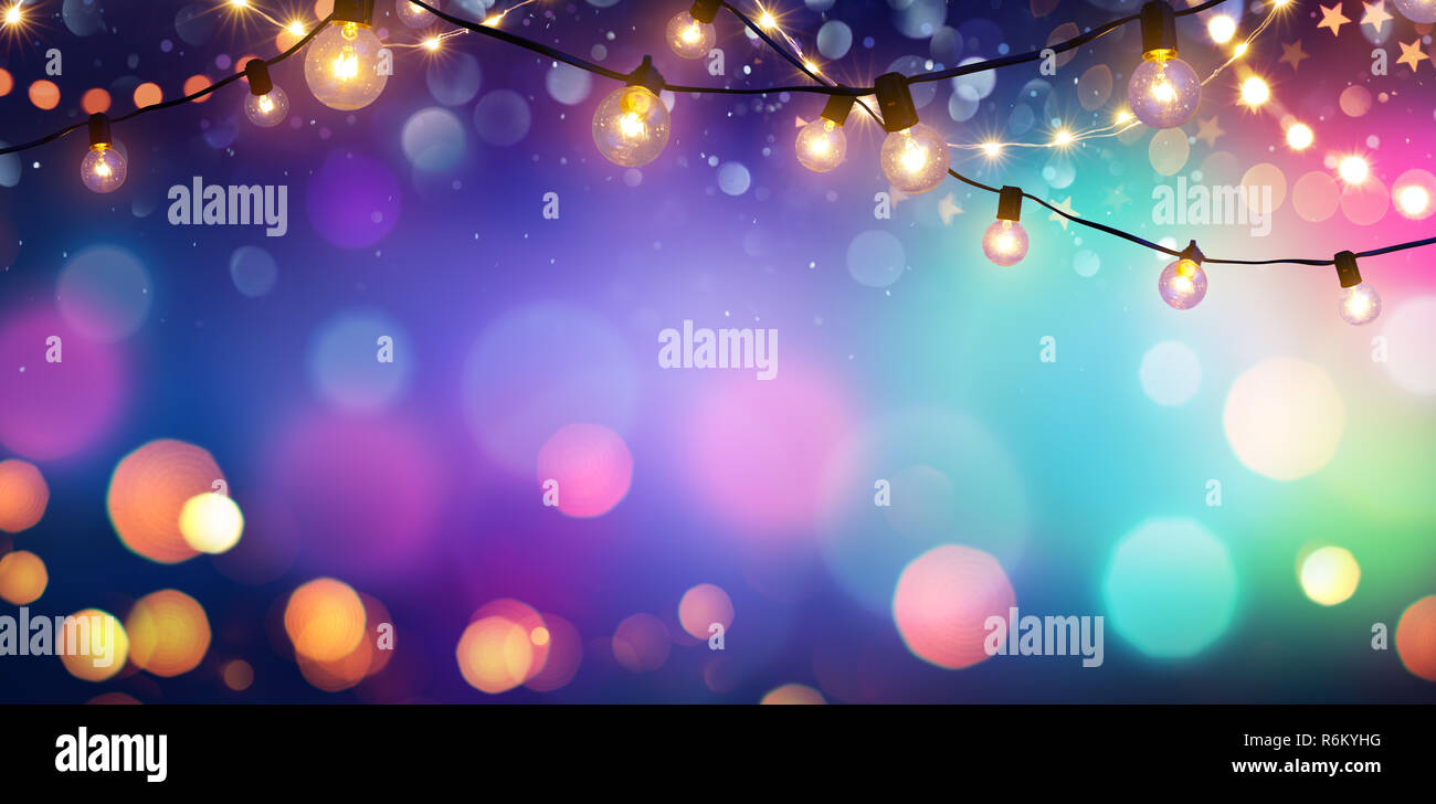 party colorful bokeh and