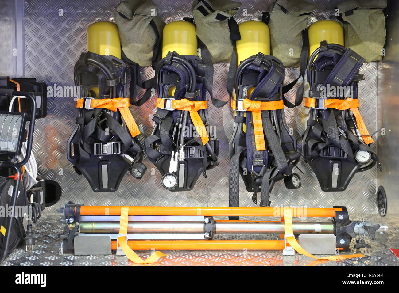 hight resolution of self contained breathing apparatus stock image