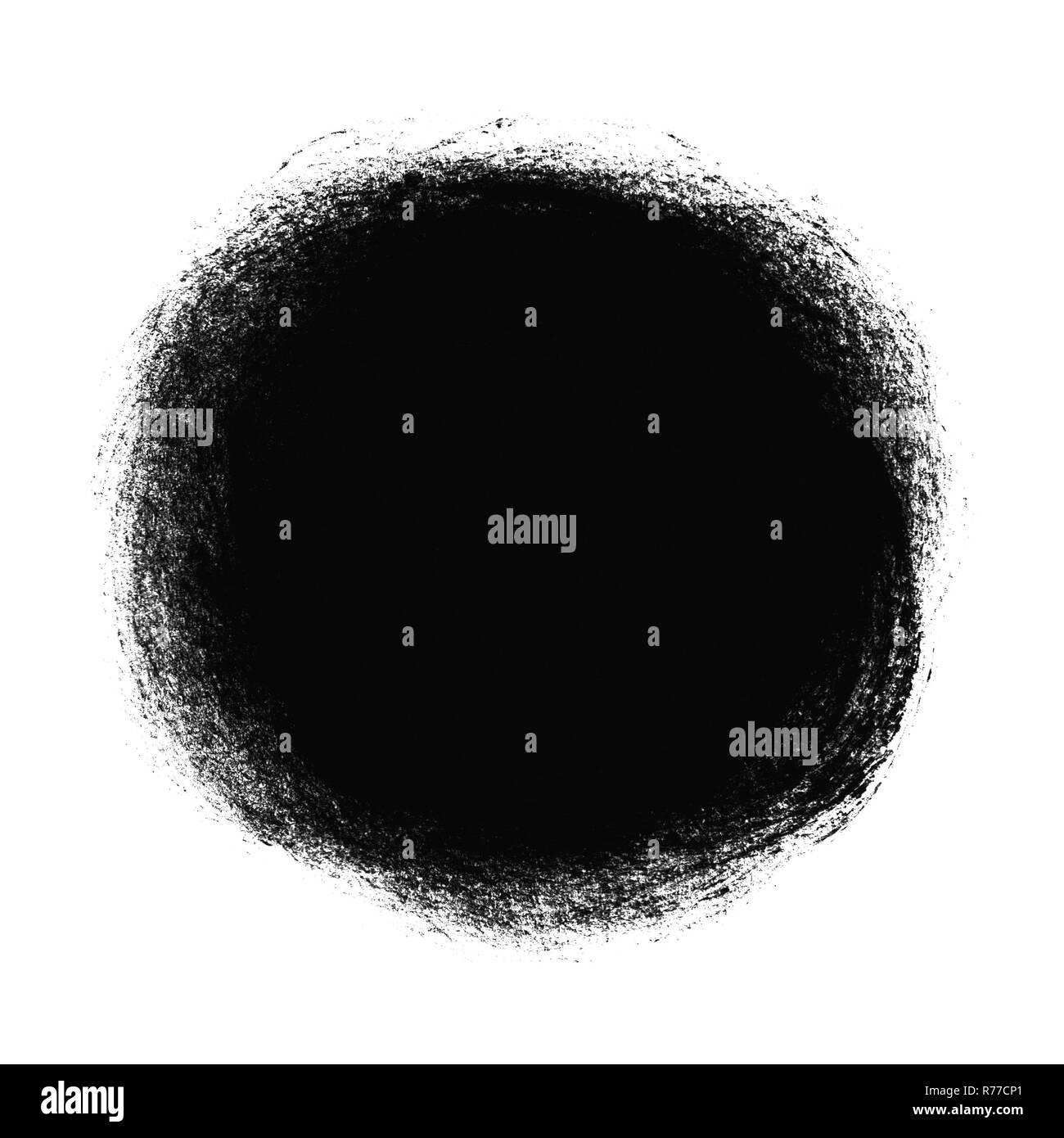 black round color patch
