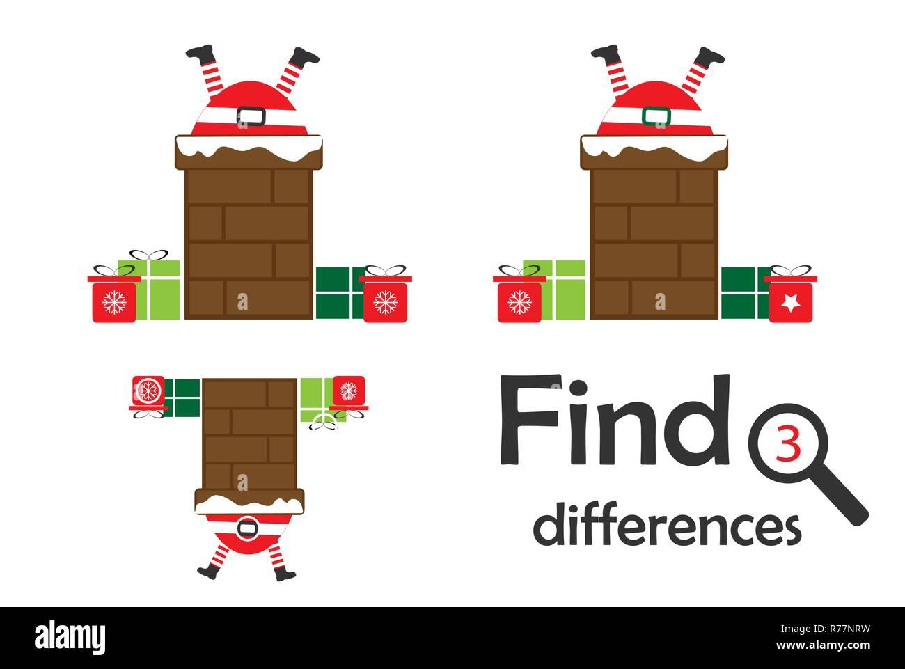 Christmas Differences Game Kids Stock Photos Amp Christmas
