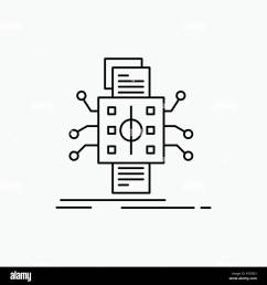 analysis data datum processing reporting line icon vector isolated illustration  [ 1300 x 1390 Pixel ]