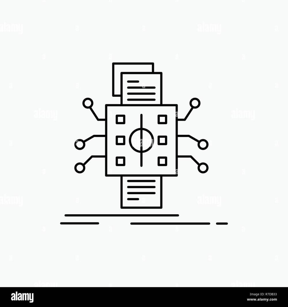 medium resolution of analysis data datum processing reporting line icon vector isolated illustration