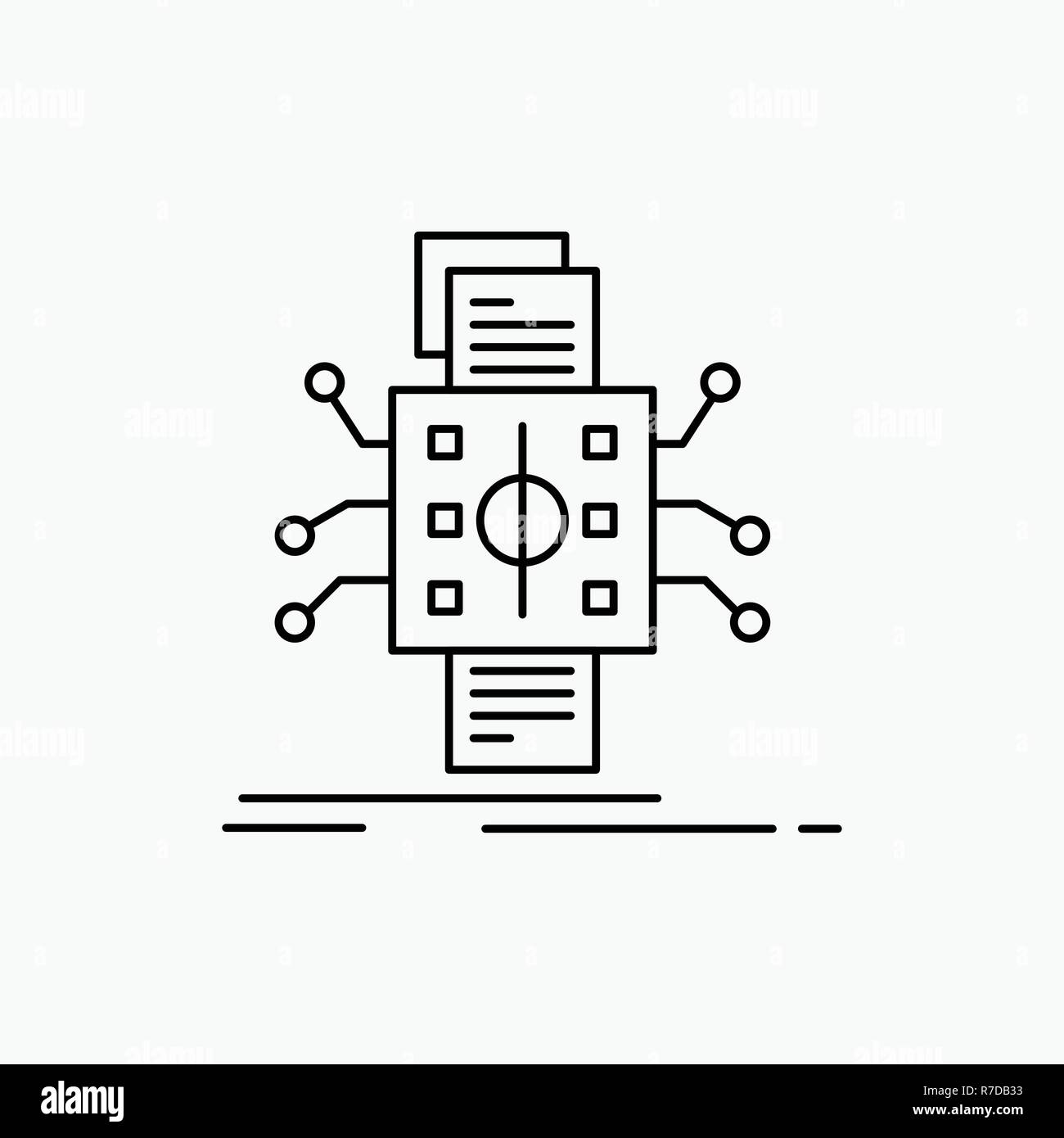 hight resolution of analysis data datum processing reporting line icon vector isolated illustration