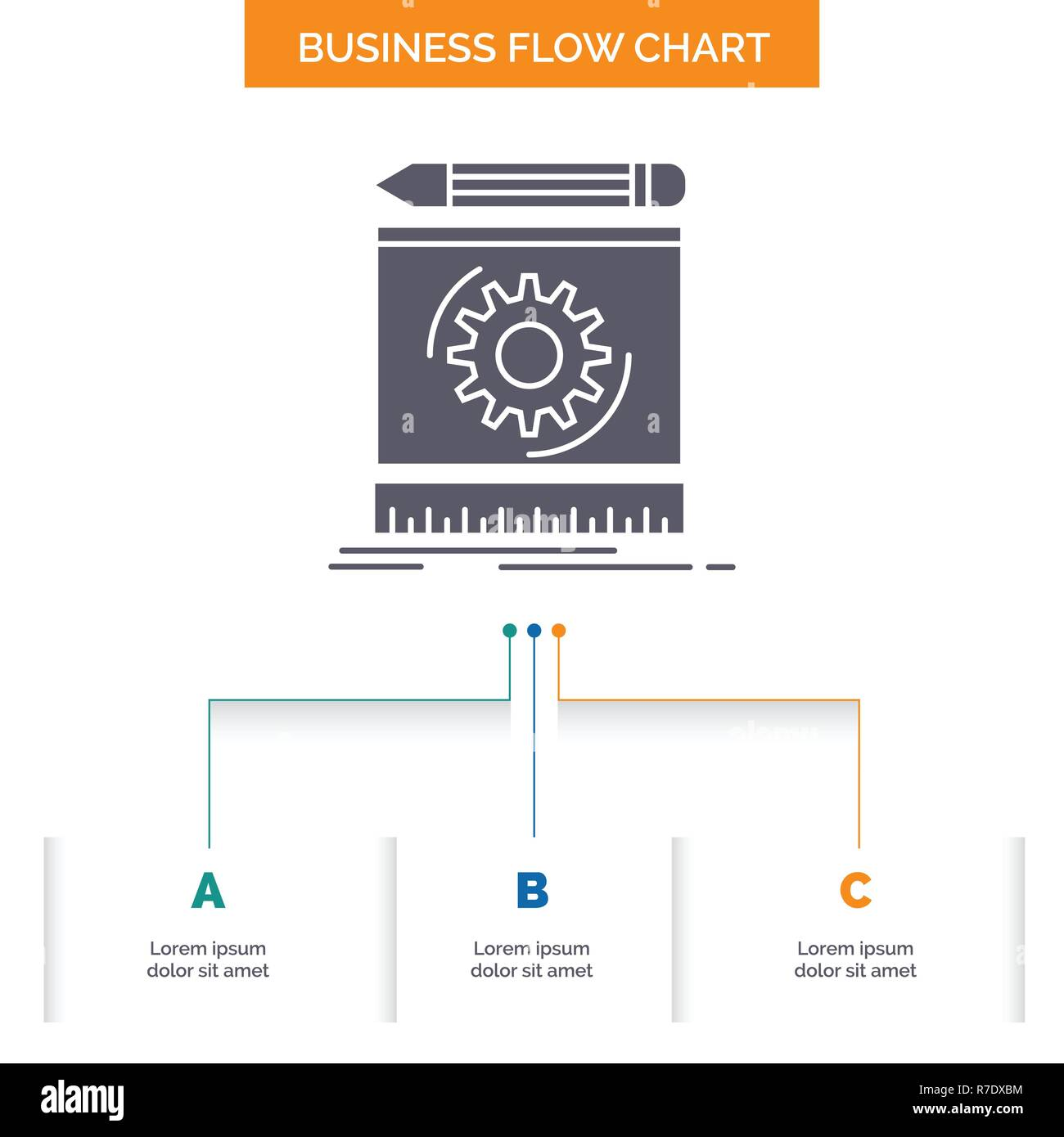 hight resolution of draft engineering process prototype prototyping business flow chart design with 3 steps glyph icon for presentation background template place for