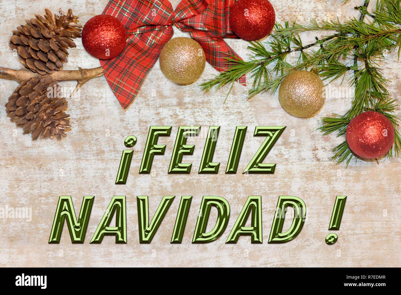 feliz navidad stock photos