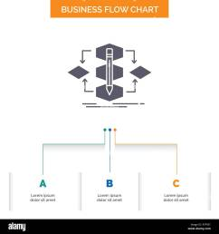 algorithm design method model process business flow chart design with 3 steps glyph icon for presentation background template place for text  [ 1300 x 1390 Pixel ]