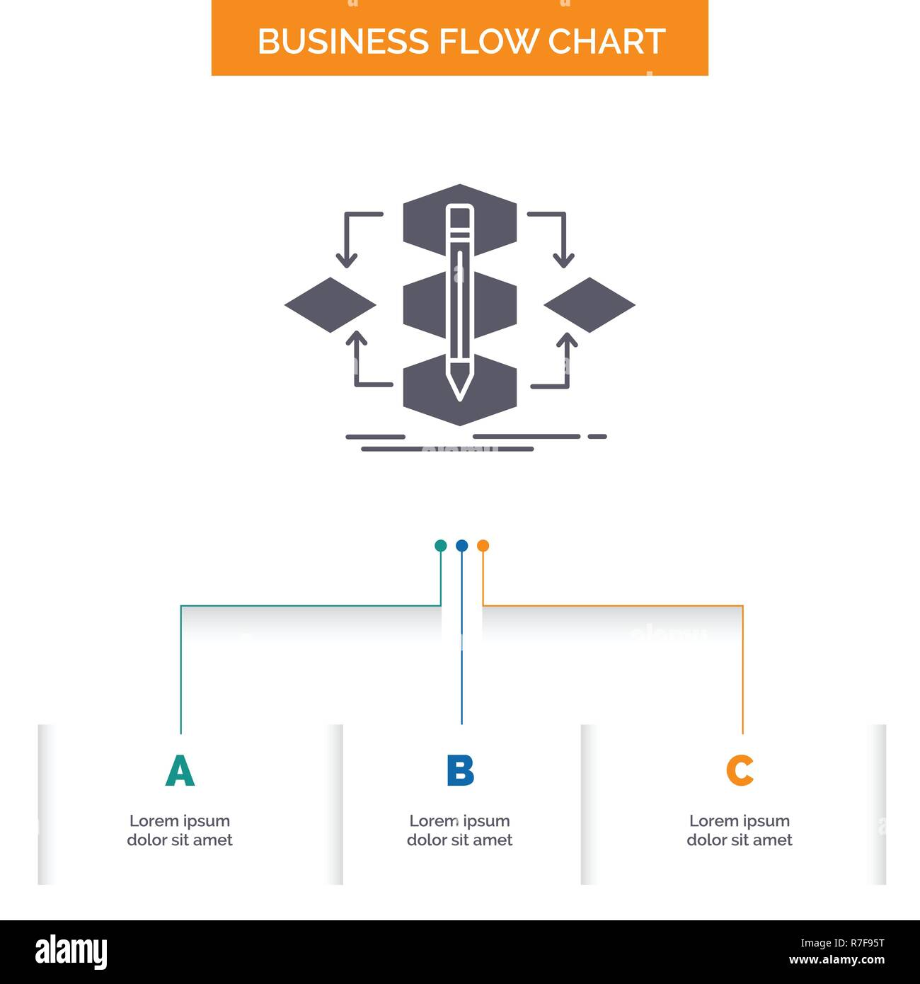 hight resolution of algorithm design method model process business flow chart design with 3 steps glyph icon for presentation background template place for text