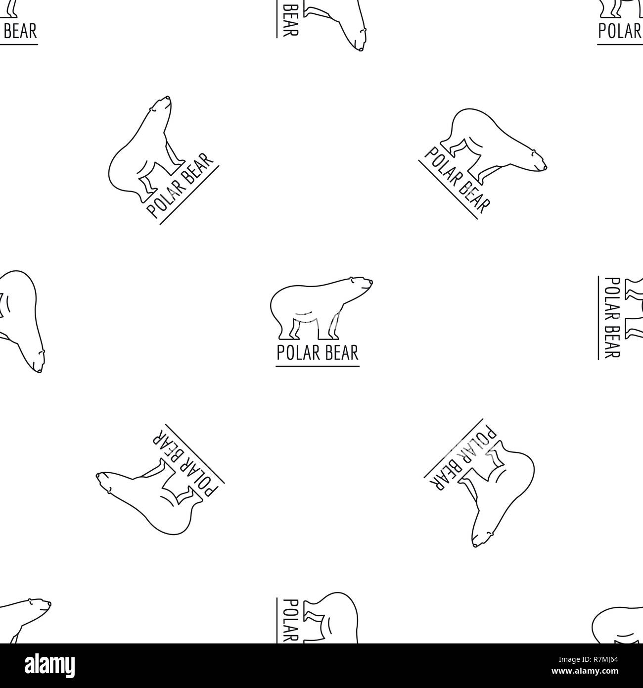 hight resolution of polar bears pattern seamless vector repeat geometric for any web design stock image