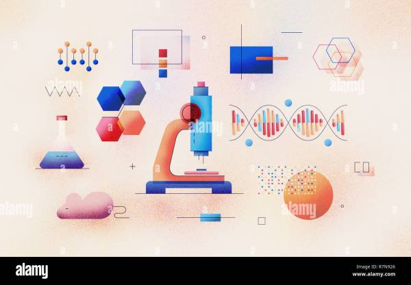Biotechnology Genetic Science Infographic Stock