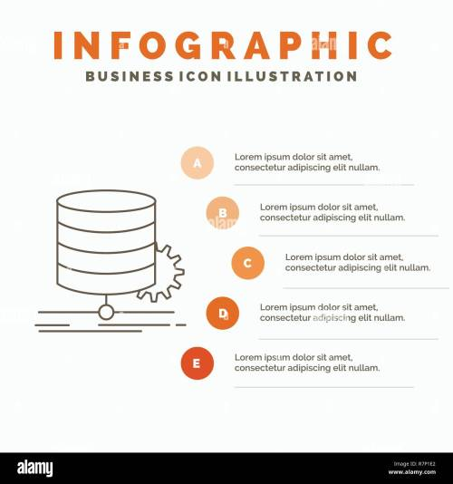 small resolution of algorithm chart data diagram flow infographics template for website and presentation line gray icon with orange infographic style vector illustra