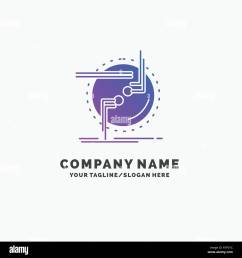 chain connect connection link wire purple business logo template place for tagline  [ 1300 x 1390 Pixel ]