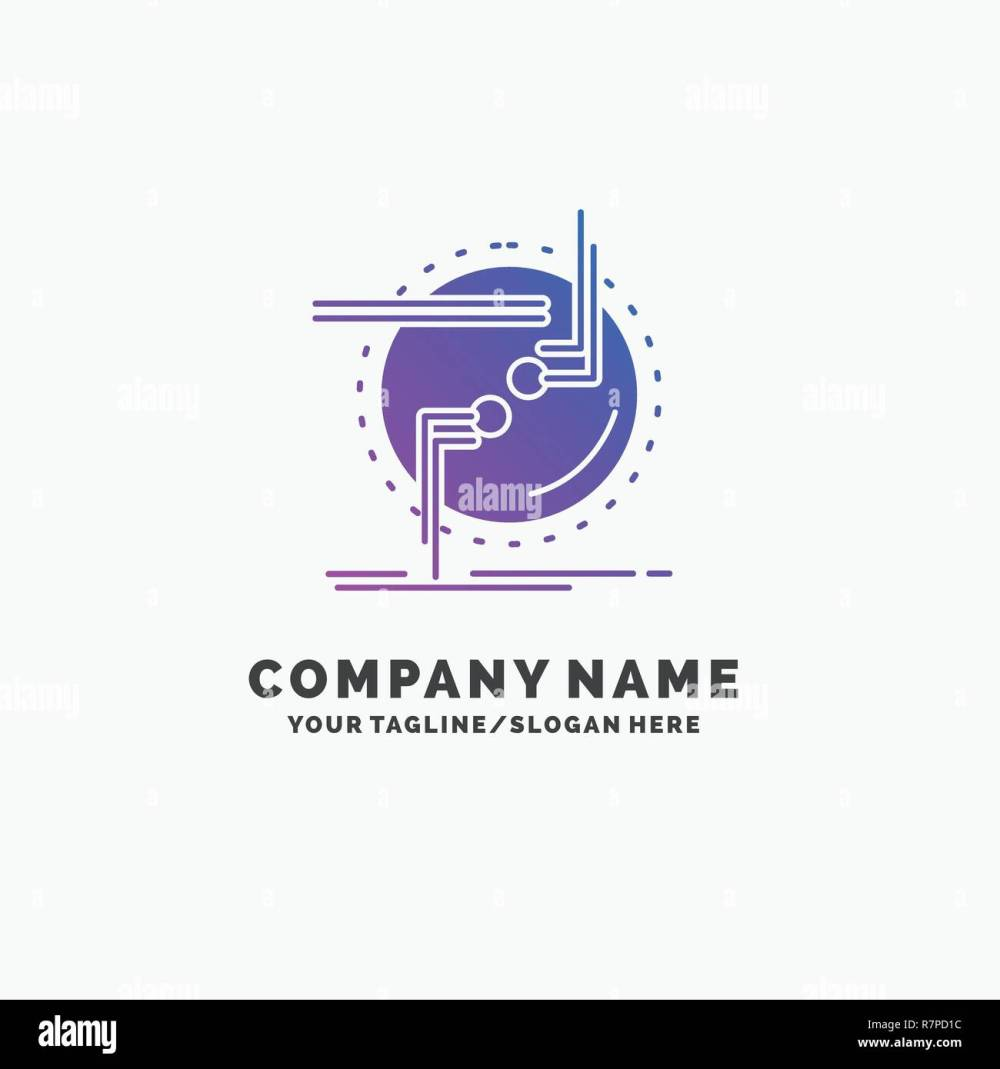 medium resolution of chain connect connection link wire purple business logo template place for tagline