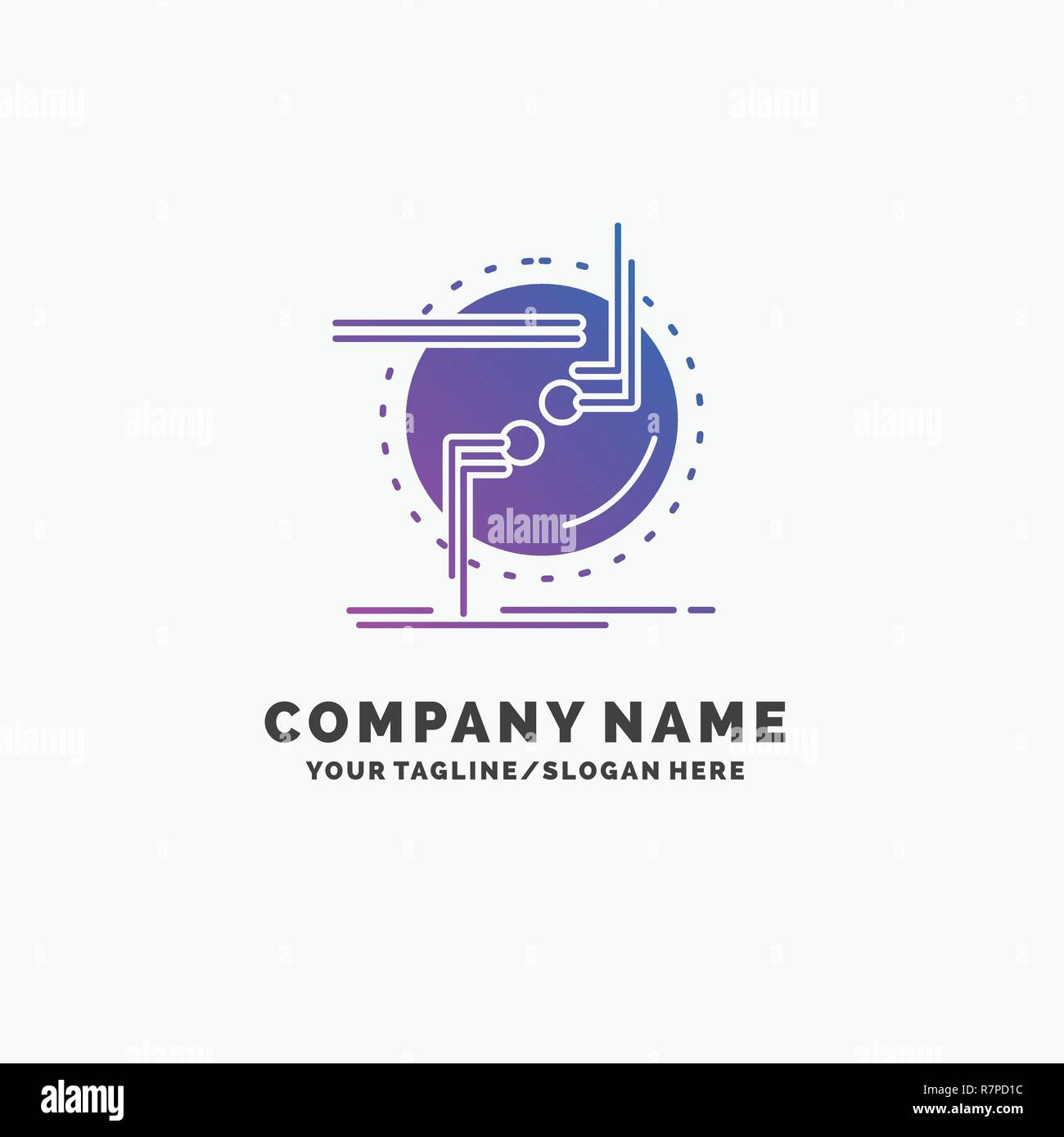 hight resolution of chain connect connection link wire purple business logo template place for tagline