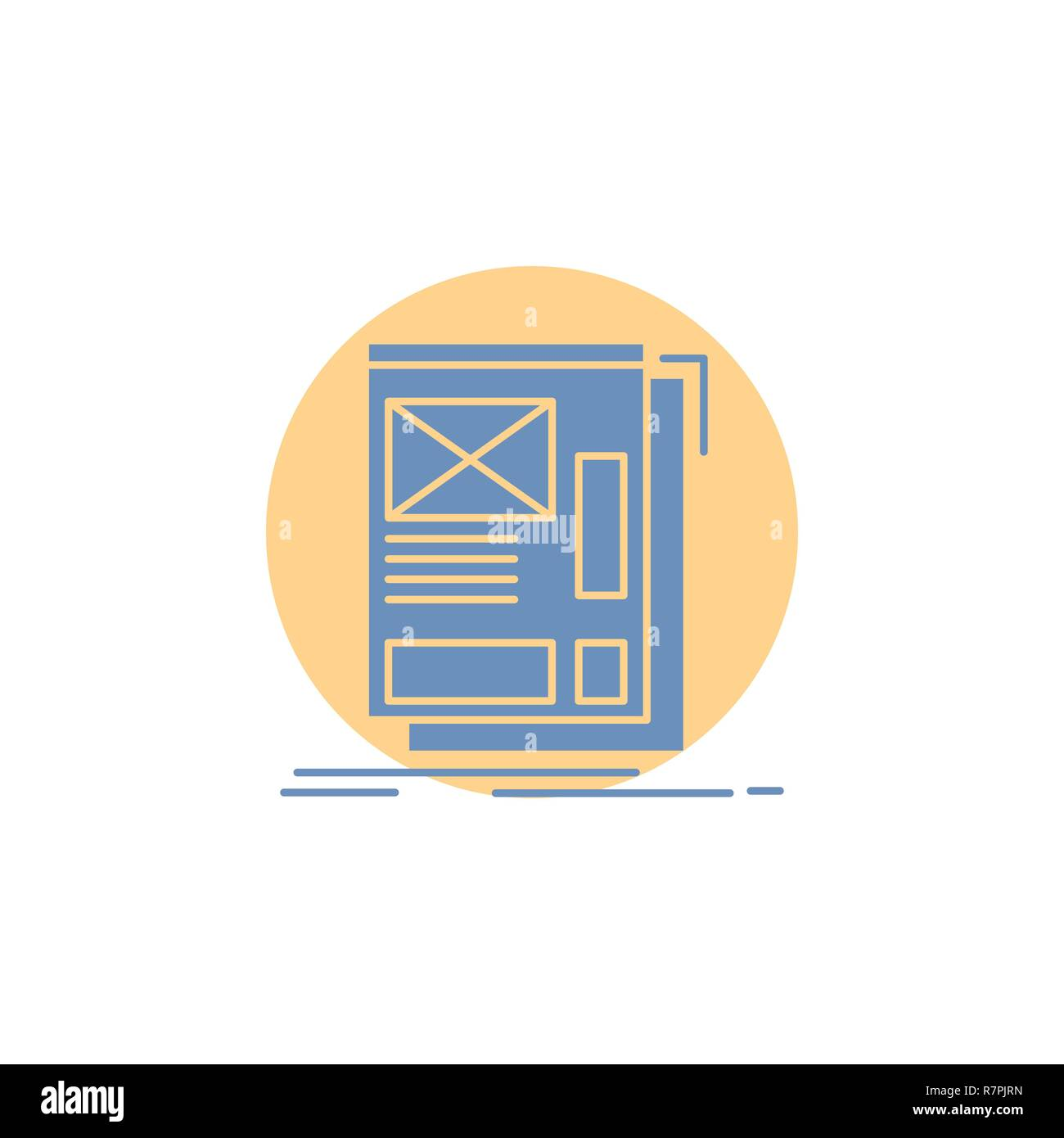 hight resolution of wire framing web layout development glyph icon stock vector