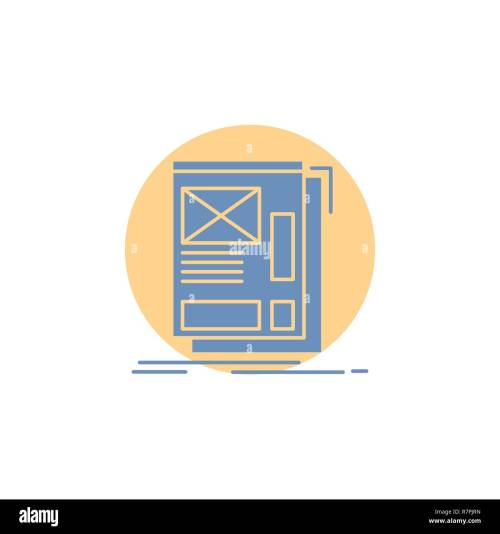 small resolution of wire framing web layout development glyph icon stock vector