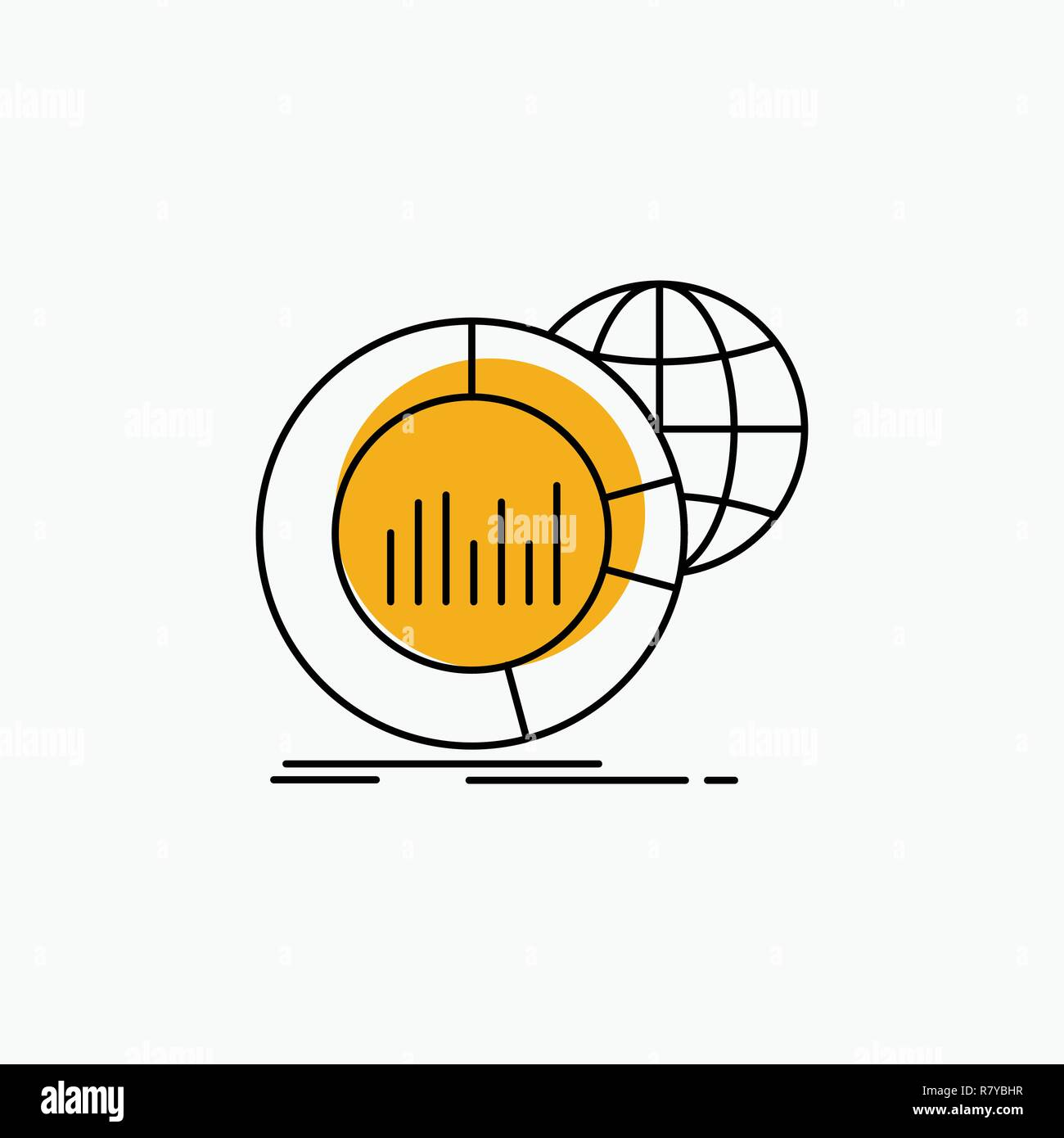 hight resolution of big chart data world infographic line icon