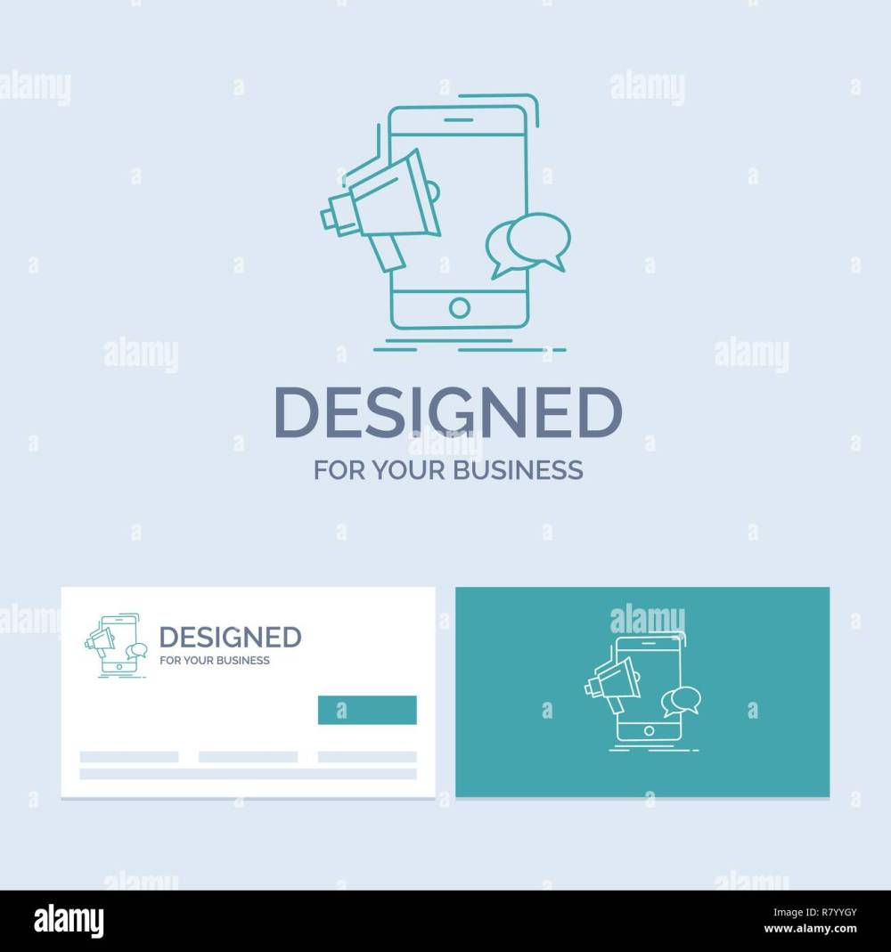 medium resolution of bullhorn marketing mobile megaphone promotion business logo line icon symbol for your