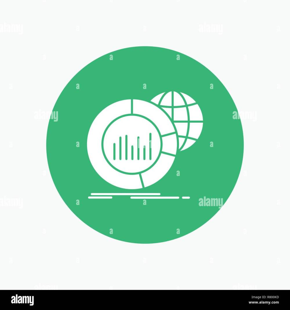 medium resolution of big chart data world infographic white glyph icon in circle vector button illustration
