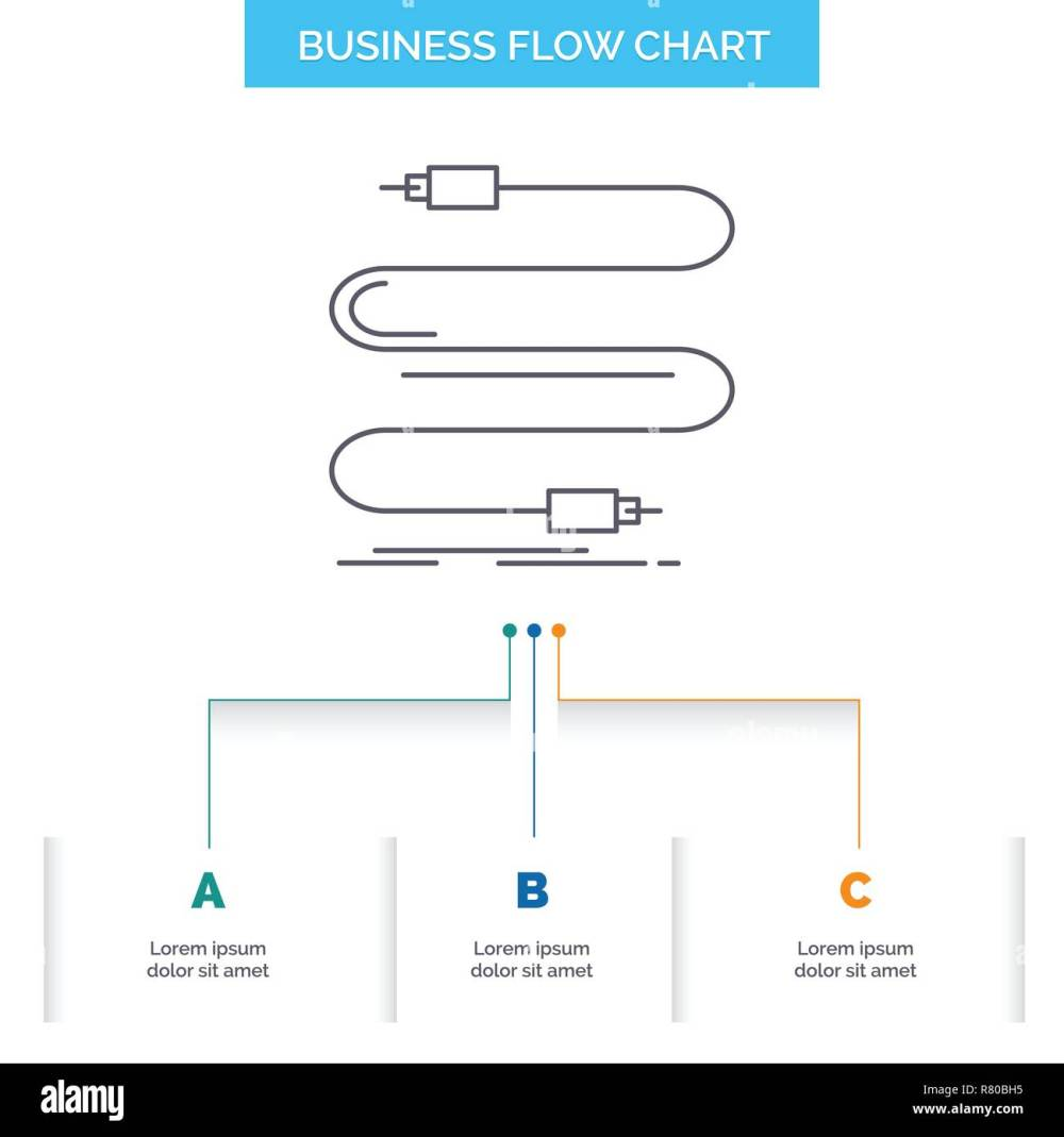 medium resolution of audio cable cord sound wire business flow chart design with 3 steps line icon for presentation background template place for text
