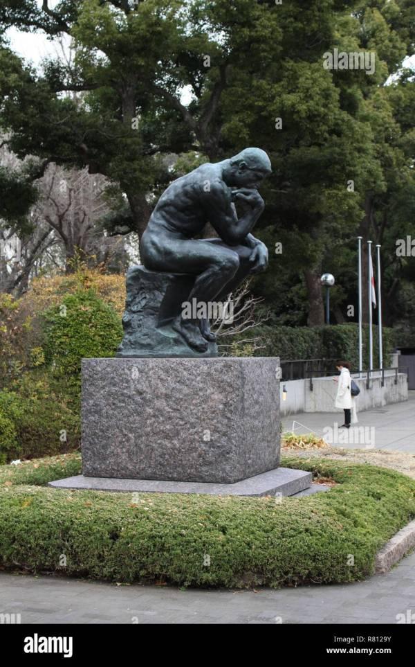 Thinker Statue Rodin Stock &