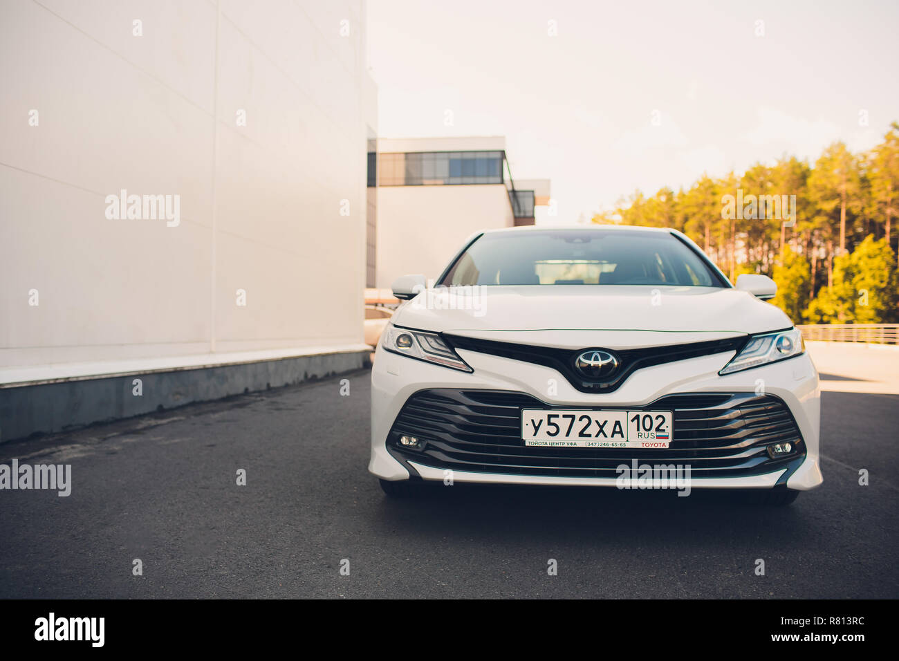 all new camry white yaris s 1500cc trd ufa russia 11 august 2018 brand toyota parked