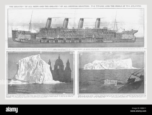 small resolution of sectional diagram of the titanic and iceberg april 20 1912