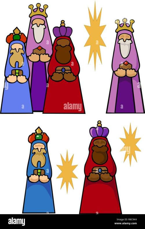 small resolution of the magi with their gifts for the christ child and some stars variations with