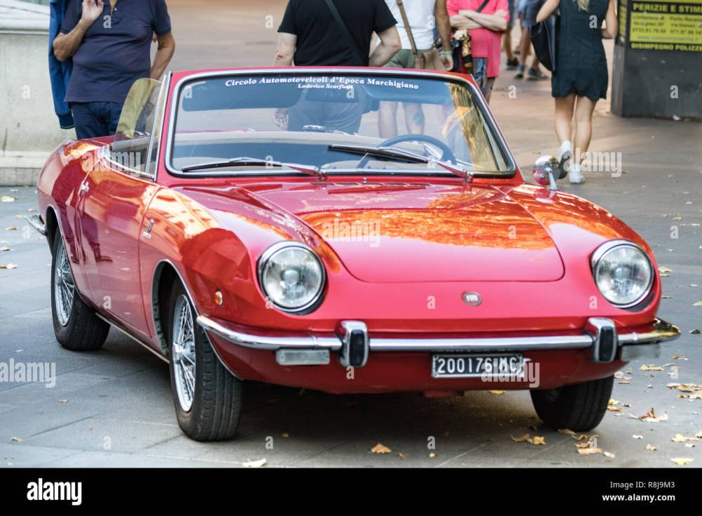 medium resolution of ancona italy september 23th 2018 fiat 850 spider convertible at a vintage