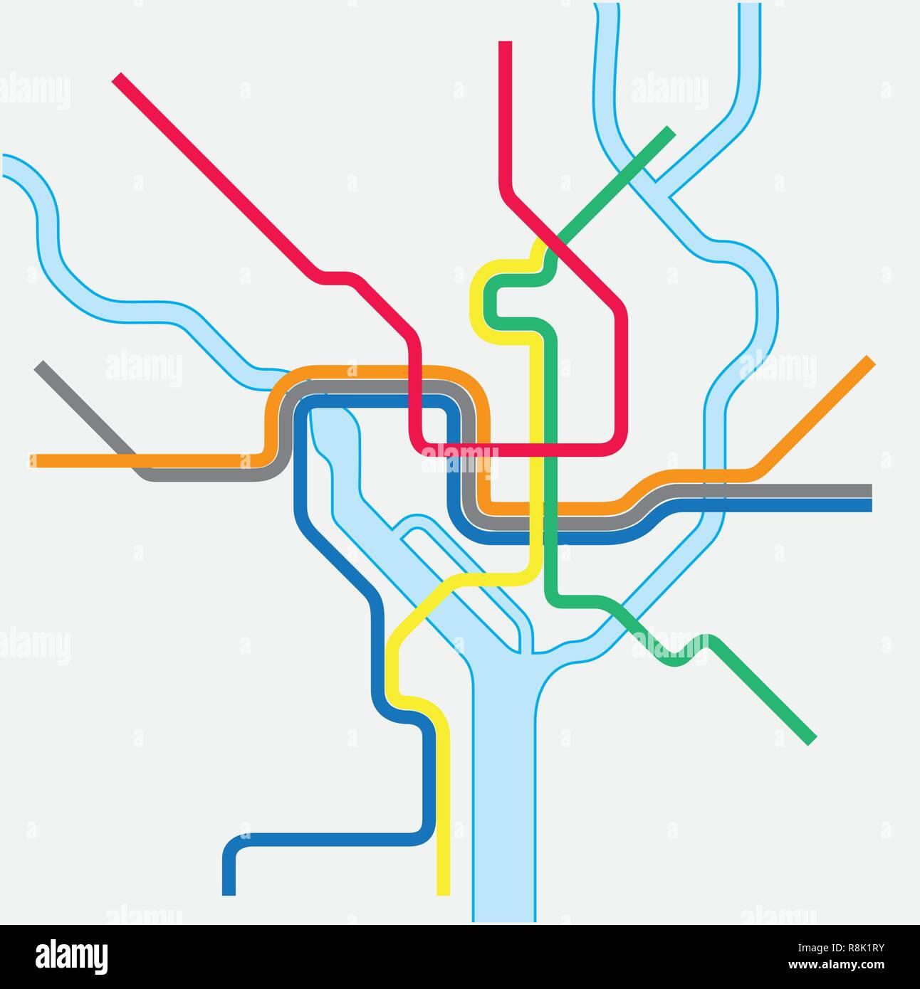hight resolution of metro map of washington dc united states