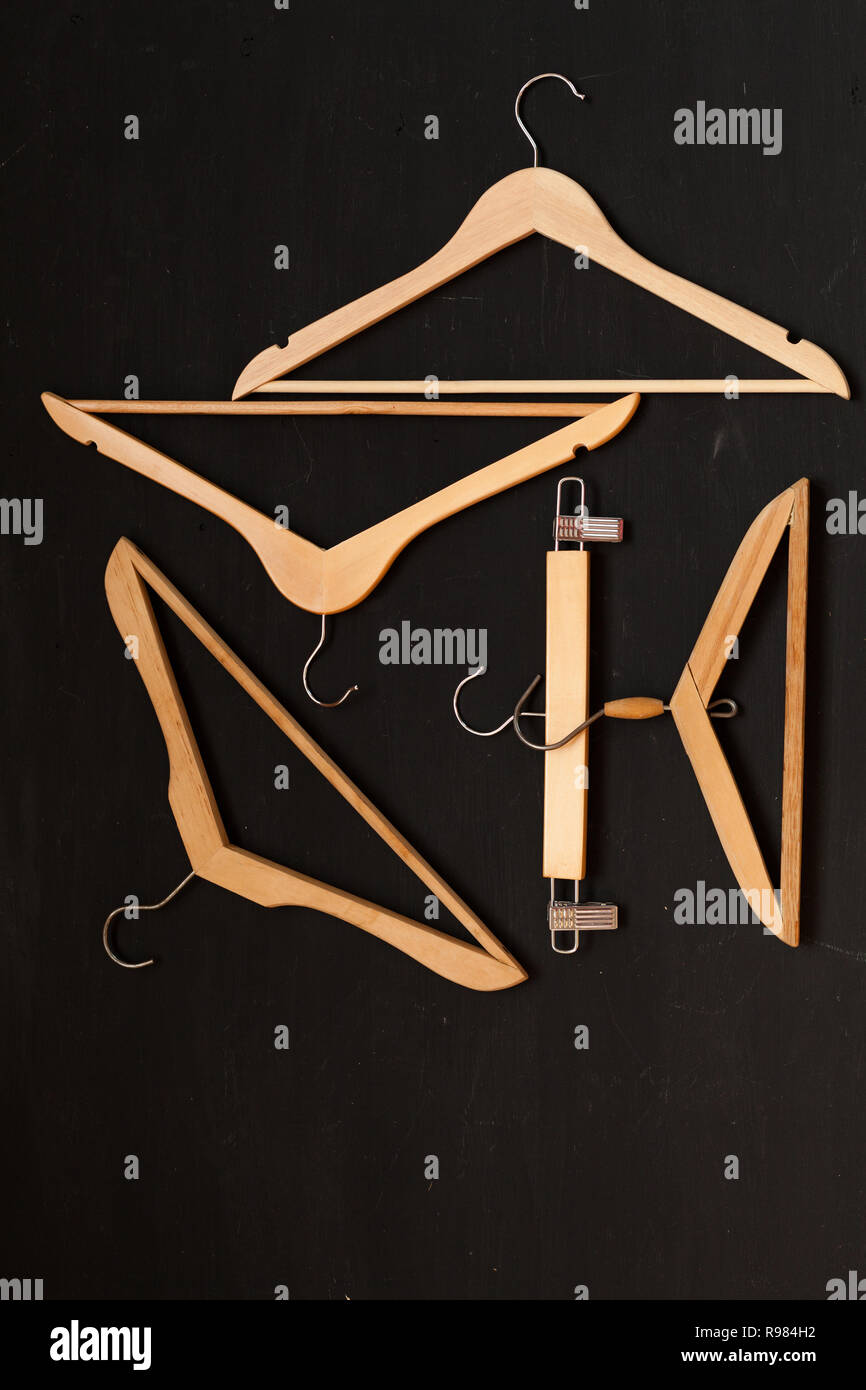 Nice Hangers : hangers, Hangers, Clothes, Wardrobe, Fashion, Background, Stock, Photo, Alamy