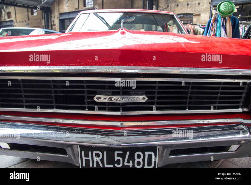 medium resolution of 1966 red el camino ford chevrolet at the annual classic car exhibition and vintage clothing market at kings cross l