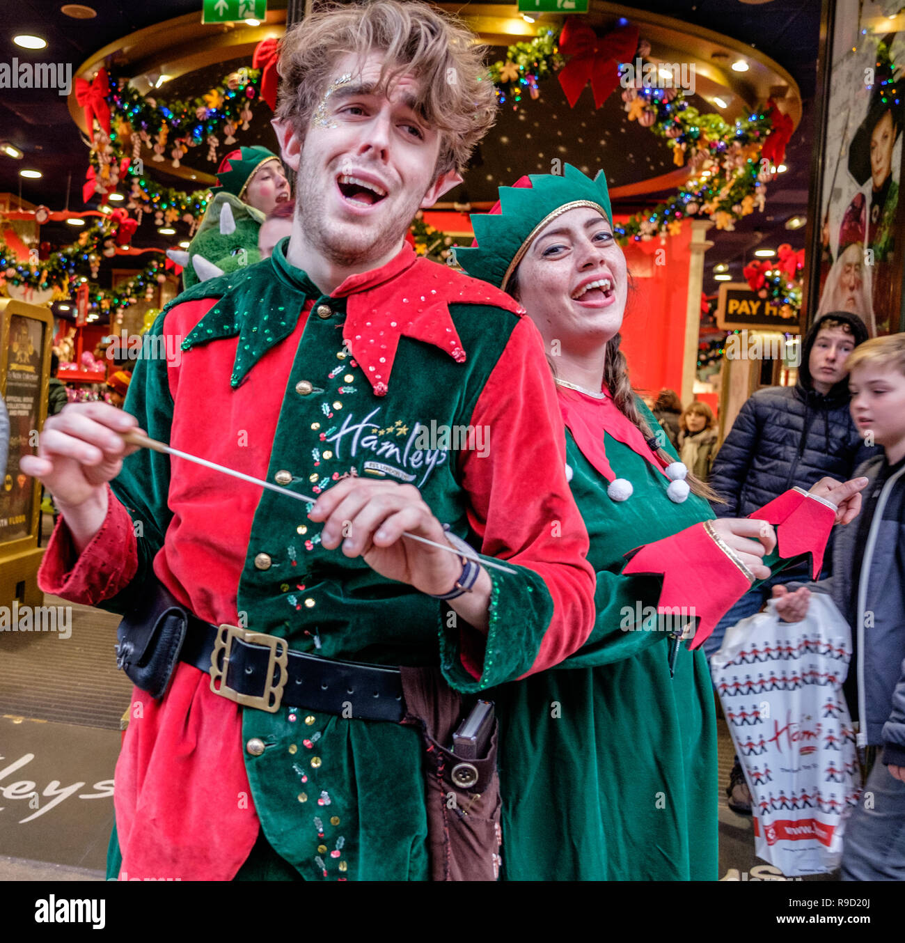 elf singing stock photos