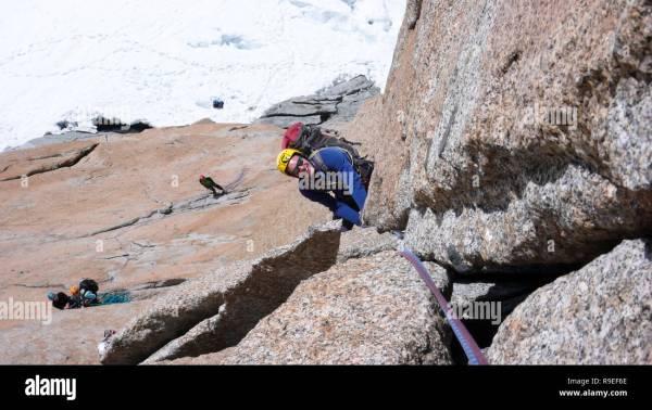Rock Climbing Anchor Stock & - Alamy