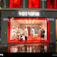 Sofaworks Westfield Stratford Gray Sofa Brown Rug Signage Brand Branding Stock Photos On The Valentino Flagship Store Old Bond Street London England Uk