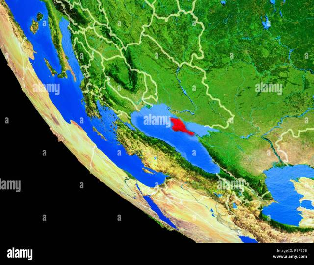 Crimea On Realistic Model Of Planet Earth With Country Borders And Very Detailed Planet Surface 3d Illustration Elements Of This Image Furnished By