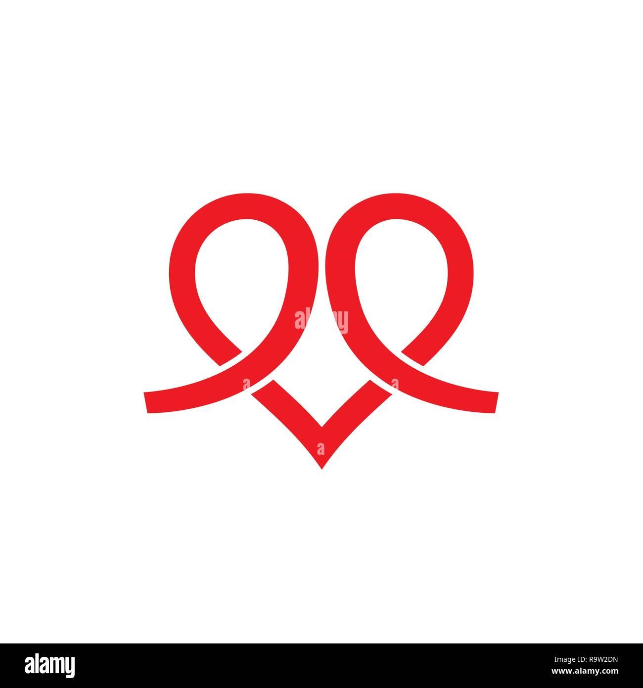 heart icon vector logo