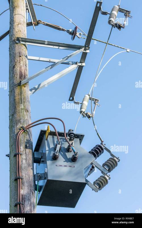 small resolution of 11 kv pole mounted two phase transformer with ceramic insulators and uninsulated conductors two core