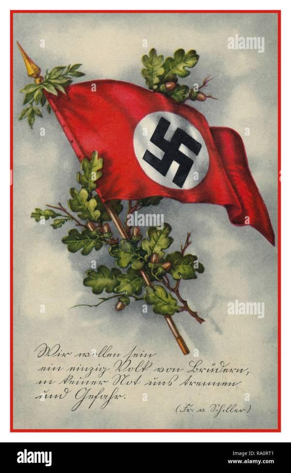 Vintage Early 1930 German Nazi Propaganda Birthday