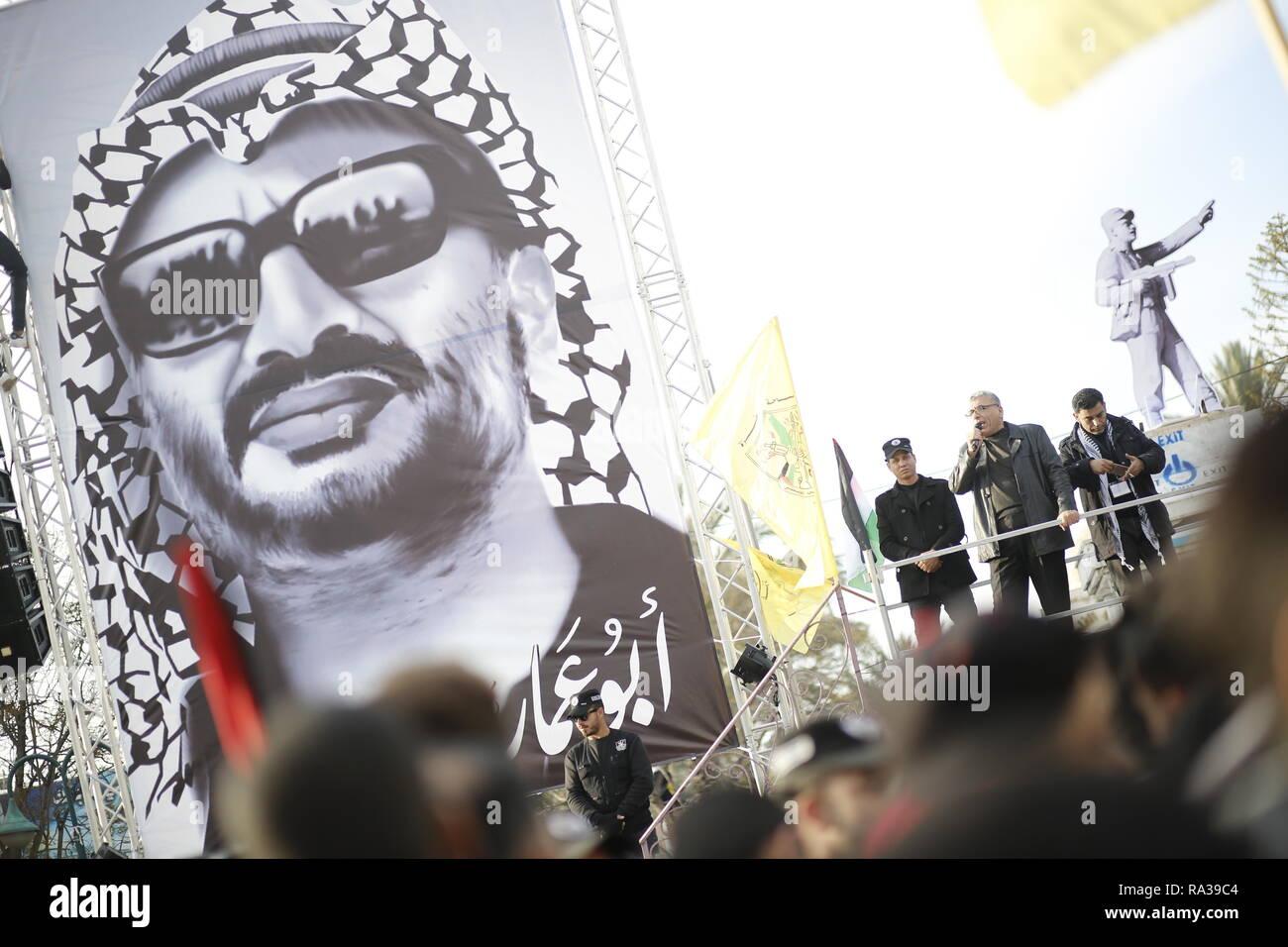 huge yasser arafat portrait