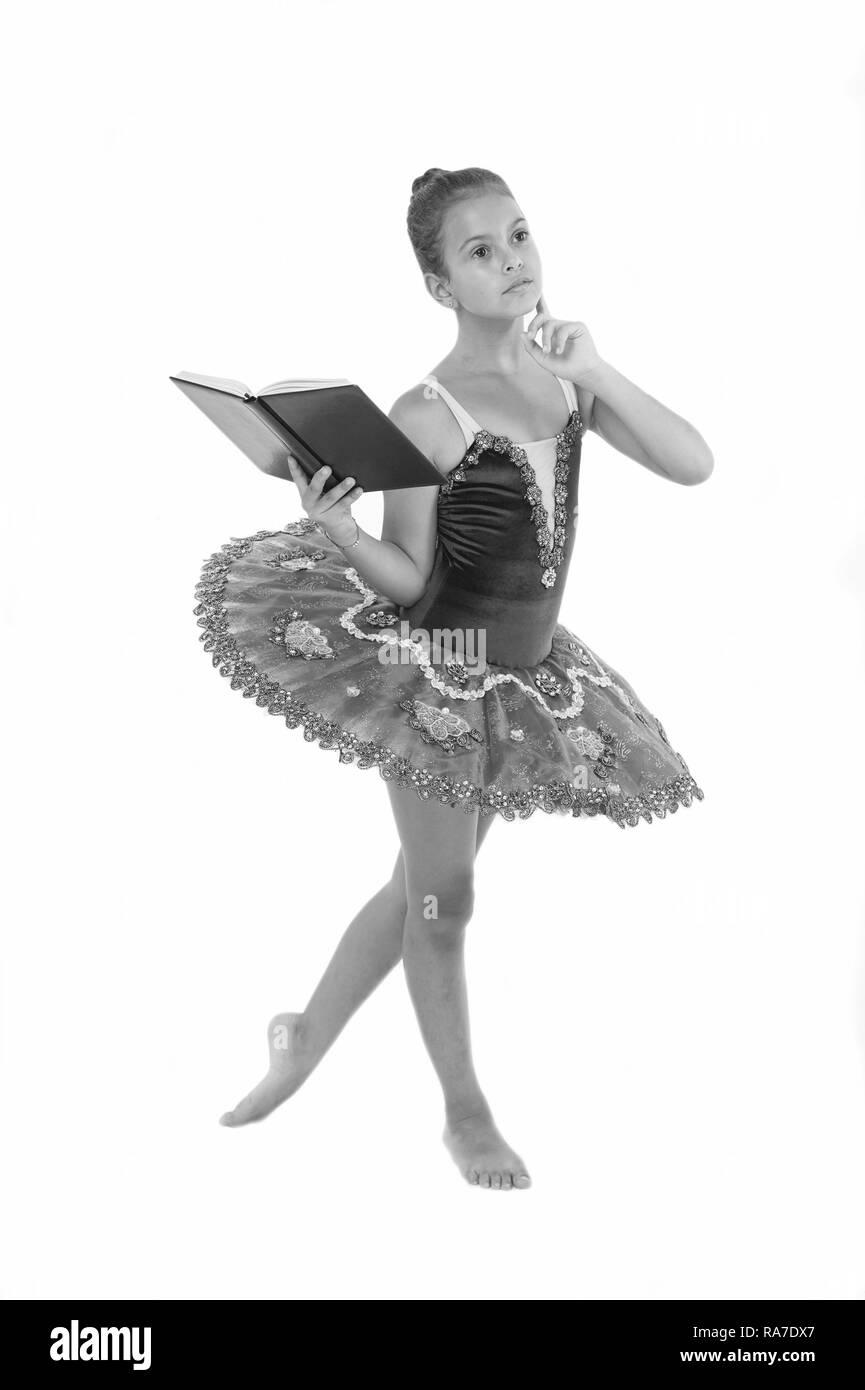 girl ballerina dancing while